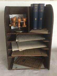 Ancien trieur en bois, accessoire de bureau