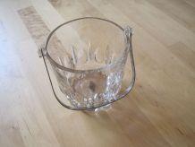 seau a glace en verre de pub Renault vintage