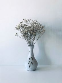 Vase vintage en grès blanc
