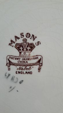 Ancienne assiette Années 1930 marque Masons numérotée