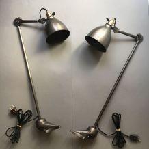 "LOT 2 LAMPES APPLIQUES ""GRAS RAVEL"" N° 202"