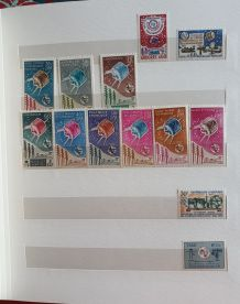 Album timbres centenaire de l' UIT 1965
