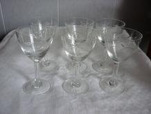 6 verres a pied graves