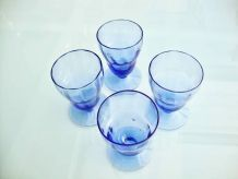 4 verres bleu myosotis