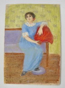 Tableau portrait jeune femme 1930