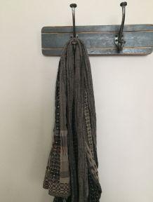 Patère bleue - 2 crochets