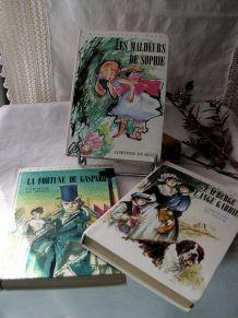 3 livres Bibliothèque Rose - la Comtesse de Ségur