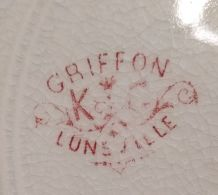 3 Assietes K.G Luneville Modéle Griffon