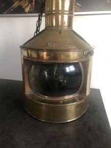 Ancienne Lampe De Marine Laiton