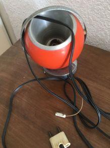 Applique en métal  forme boule orange
