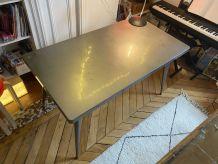 Table Bureau Tolix 55 en acier brut vernis