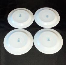 4 assiettes à dessert ARCOPAL