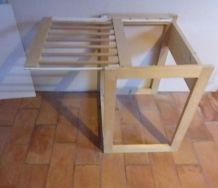 2  Porte pantalon à glissière en bois, à poser au sol