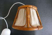 Suspension bois/coton style scandinave