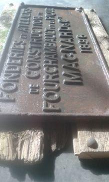 ancienne plaque publicitaire fonte sncf