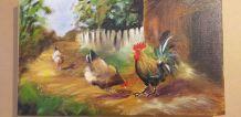 Tableau Coq et poules