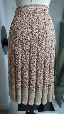 jupe vintage fait main pièce unique