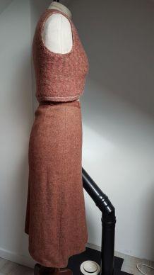 jupe et bolero vintage fait main pièce unique