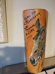 tuile peinte tête cheval - Charente Maritime