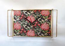 "Horloge silencieuse vintage, pendule fleurs ""La Fleurie"""