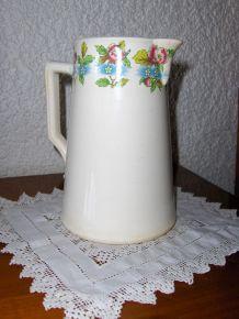 Pichet fleuri - Poteries Digoin Sarreguemines