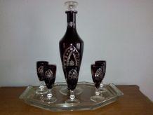 Service à liqueur en cristal de Bohème