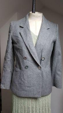 veste gris  vintage