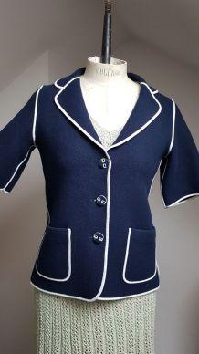 veste bleu marine style courreges
