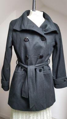 manteau noir vintage