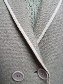 veste vert pale  style courreges