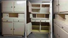 Lot de 7 meubles vintage dont buffet MADO et chaises VOLO
