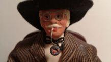 Ancien santon Homme à la pipe estampillé Huguette Devillaine