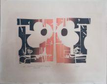 Lithographie de V. Rougié épreuve d'essais 1973