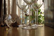 6 verres à vin de dégustation