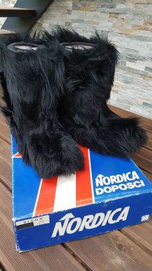 Bottes de yéti noir 43-44 bison- Nordica vintage