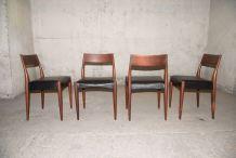 Série de 4 chaises, modèle MK175, création 1961