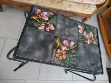 Table basse carrelée fer forgé