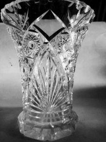 Grand vase Cristal de Bohème H. 23 cms