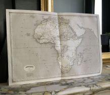 Carte géographique 19ème numérotée AFRIQUE