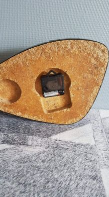 pendule vintage Jaz transistor jaune, mécanisme neuf
