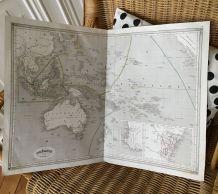 Carte géographique 19ème numérotée OCEANIE