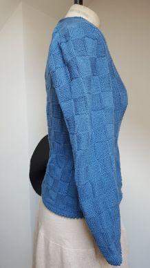 gilet en laine  bleu