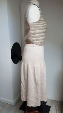 jupe et bolero vintage fait main pièce
