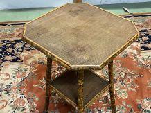 Table d'appoint en bambou début XXème