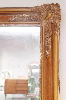 Miroir ancien doré daté de 1810