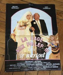 Petite affiche cinéma originale La cage aux folles 3 - 1985