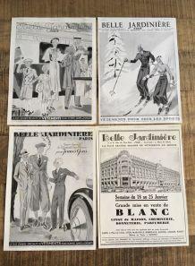 Lot 4 pubs années 30 La belle jardinière mode femmes
