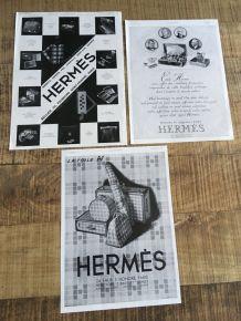 Lot 3  pubs années 30 HERMES