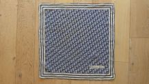 Foulard vintage en coton Christian DIOR motif monogramme Dio