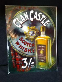 Plaque métal whisky clan castle